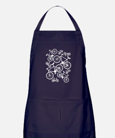 Bicycles Big and Small Apron (dark)