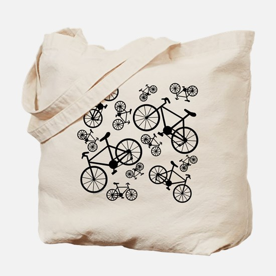 Bicycles Big and Small Tote Bag