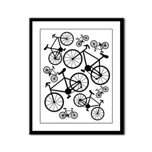 Bicycles Big and Small Framed Panel Print