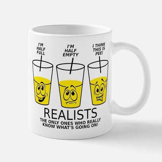 Glass Half Full Empty Pee Funny T-Shirt Mug