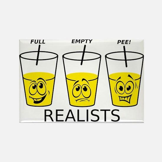 Glass Half Full Empty Pee Funny T-Shirt Rectangle