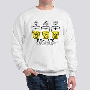 Glass Half Full Empty Pee Funny T-Shirt Sweatshirt
