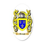 Brough Oval Car Magnet