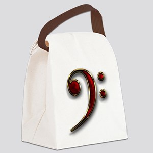 Bass Clef Logo Canvas Lunch Bag