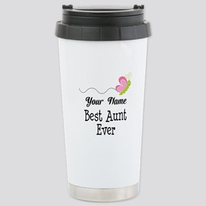 Personalized Best Aunt Stainless Steel Travel Mug