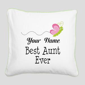 Personalized Best Aunt Square Canvas Pillow