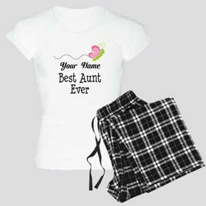 Personalized Best Aunt Women's Light Pajamas