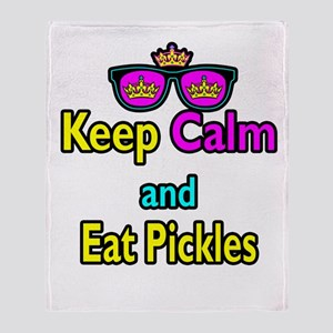 Crown Sunglasses Keep Calm And Eat Pickles Throw B