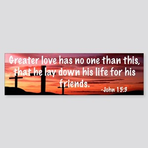 John 15:3 Sticker (Bumper)