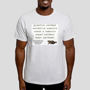 Latin Woodchuck Ash Grey T-Shirt