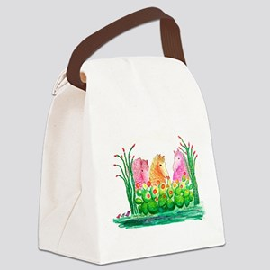 Curly Mares in Cactus Canvas Lunch Bag