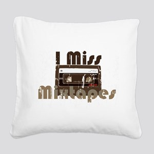 Mix tape Square Canvas Pillow
