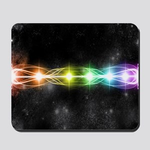 Colorful rainbow and stars Mousepad