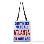 Atlanta Baseball Polyester Tote Bag