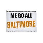 Baltimore Baseball Makeup Pouch