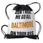 Baltimore Baseball Drawstring Bag