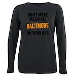 Baltimore Baseball Plus Size Long Sleeve Tee
