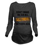 Baltimore Baseball Long Sleeve Maternity T-Shirt