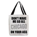 Chicago Baseball Polyester Tote Bag
