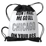 Chicago Baseball Drawstring Bag