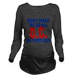 Washington Baseball Long Sleeve Maternity T-Shirt