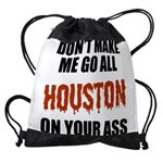 Houston Baseball Drawstring Bag