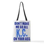 Kansas City Baseball Polyester Tote Bag