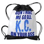 Kansas City Baseball Drawstring Bag