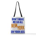 New York Baseball Polyester Tote Bag