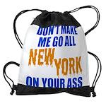 New York Baseball Drawstring Bag