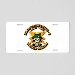 Army - SOF - MACV - SOG - MLT 1 Aluminum License P