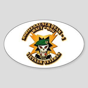Army - SOF - MACV - SOG - MLT 1 Sticker (Oval)