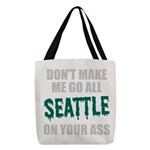 Seattle Baseball Polyester Tote Bag