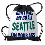 Seattle Baseball Drawstring Bag