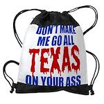 Texas Baseball Drawstring Bag
