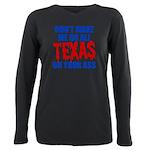 Texas Baseball Plus Size Long Sleeve Tee