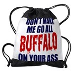 Buffalo Football Drawstring Bag