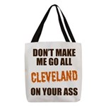 Cleveland Football Polyester Tote Bag