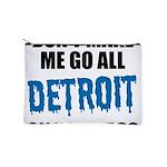 Detroit Football Makeup Pouch