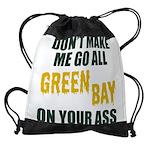 Green Bay Football Drawstring Bag