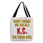 Kansas City Football Polyester Tote Bag