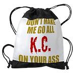 Kansas City Football Drawstring Bag