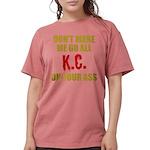 Kansas City Football Womens Comfort Colors Shirt