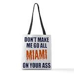 Miami Football Polyester Tote Bag