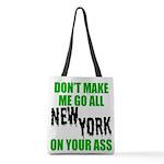 New York Football Polyester Tote Bag