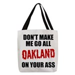 Oakland Football Polyester Tote Bag