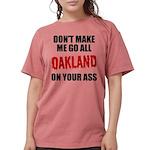 Oakland Football Womens Comfort Colors Shirt