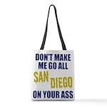 San Diego Football Polyester Tote Bag