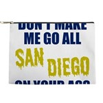 San Diego Football Makeup Pouch