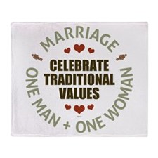 Celebrate Traditional Values Throw Blanket